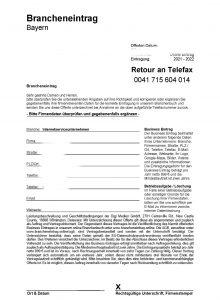 Fax-Angebot Brancheneintrag Bayern - Hier klicken für große Ansicht